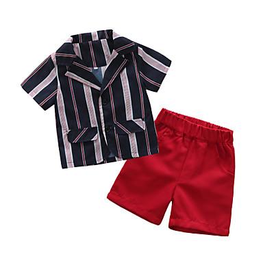 e850472fbd61 Χαμηλού Κόστους Μωρουδιακά Ρούχα Για Αγόρια-Μωρό Αγορίστικα Βασικό Ριγέ  Κοντομάνικο Κανονικό Πολυεστέρας Σετ Ρούχων