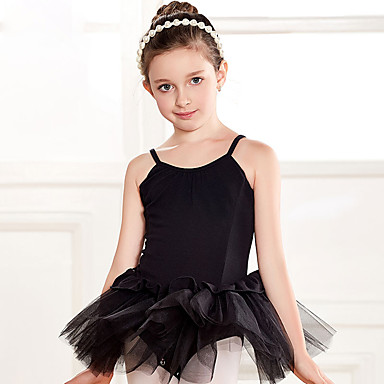 preiswerte Tanzkleider & Tanzschuhe-Tanzkleidung für Kinder / Ballett Kleider Mädchen Training / Leistung Baumwolle Spitze / Kombination Ärmellos Normal Kleid