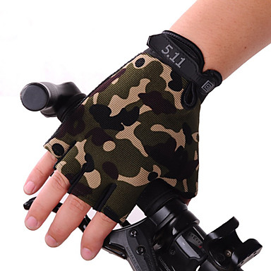 Bike Gloves / Cycling Gloves Breathable Anti-Slip Sweat-wicking Sun Protection Half Finger Sports Gloves Silicone Gel Mountain Bike MTB Black Camouflage for Adults' Fitness Gym Workout