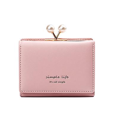 preiswerte Taschen-Damen Perlen Verzierung Portemonaies PU Volltonfarbe Rosa / Grau / Purpur