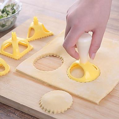 4kpl ABS + PC Lovely Monikäyttö Syntymäpäivä Leipä Kakku Cookie Pyöreä Neliö kakku Muotit jälkiruoka Decorators jälkiruoka Työkalut Bakeware-työkalut