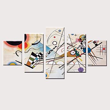 abordables Toiles-Imprimé Impressions sur toile roulées Impression sur Toile - Arts Moderne Classique Moderne Cinq Panneaux Art Prints