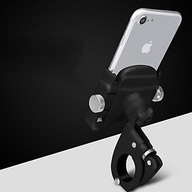 Polkupyörän puhelinteline Säädettävä / Sisäänvedettävä Liukkauden esto Universaali varten Maantiepyörä Maastopyörä Aluminum Alloy iPhone X iPhone XS iPhone XR Pyöräily Musta Hopea