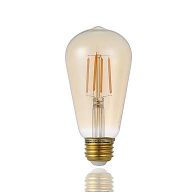 billige Elpærer-dimmable led edison pære st19 4.5w antikk glødelampe pære amber glass 120v 2200k varm hvit