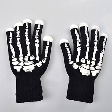 uutuus halloween syttyy vilkkuva käsineet monivärinen johtanut käsineet luuranko