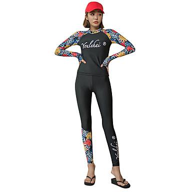 Naisten Skin-tyyppinen märkäpuku Sukelluspuvut Hengittävä Nopea kuivuminen Full Body 3-osainen - Uinti Sukellus Lainelautailu Patchwork Kesä / Erittäin elastinen