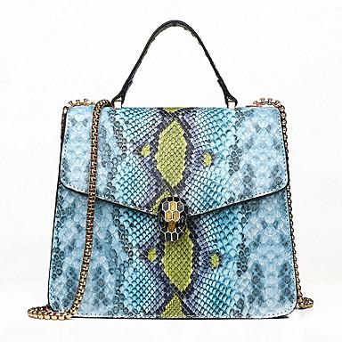 preiswerte Taschen-Damen Knöpfe Tasche mit oberem Griff Wasserdicht PU Geometrische Muster Rosa / Grau / Gelb / Schlangenhaut