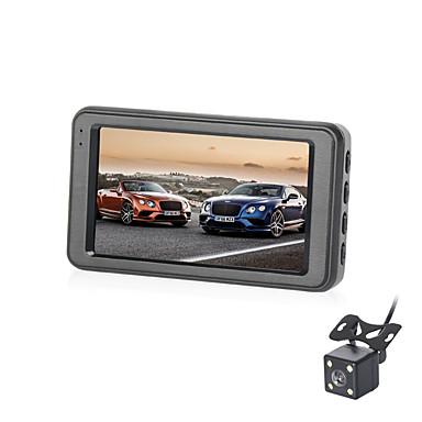 billige Bil-DVR-B303 720p Mini / HD / Dual Lens Bil DVR 170 grader Bred vinkel 3 tommers IPS Dash Cam med G-Sensor / Parkeringsmodus / Loop-opptak Nei Bilopptaker