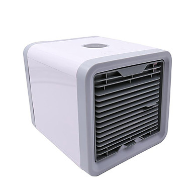 Convenient Portable Air Cooler USB Personal 7 Colors LED Light Air Cooling Mute Electric Fan Office Durable
