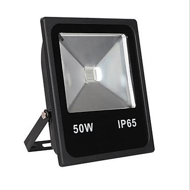 billige Utendørsbelysning-1pc 50w led floodlight vanntett fjernstyrt infrarød sensor rgb 85-265v utendørs belysning gårdsplass hage 1led perler