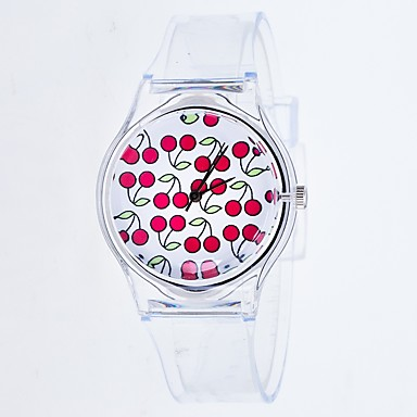 4d1b87261f73 Women's Quartz Watches Cartoon Word Watch White Silicone Chinese Quartz  Midnight Blue Wine Wood Creative Color Gradient Adorable 30 m 1 pc Analog  One Year ...