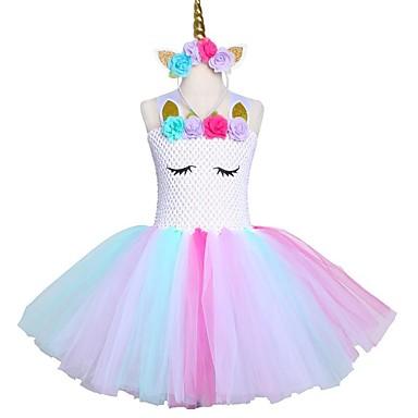 cbe12de31 vestido de tutú vestido de unicornio pastel princesa día de los niños falda  desgaste diadema