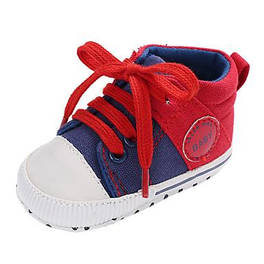 voordelige Babyschoenentjes-Jongens / Meisjes Comfortabel / Eerste schoentjes Canvas Sneakers Peuter (9m-4ys) Grijs / Rood / Blauw Herfst
