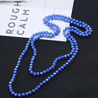 abordables Colliers-Collier de perles Femme Perles Pourpre Bleu Imitation Diamant Moderne Mignon Bleu clair Vert foncé Vert paon 150 cm Colliers Tendance Bijoux 1pc pour Quotidien Festival