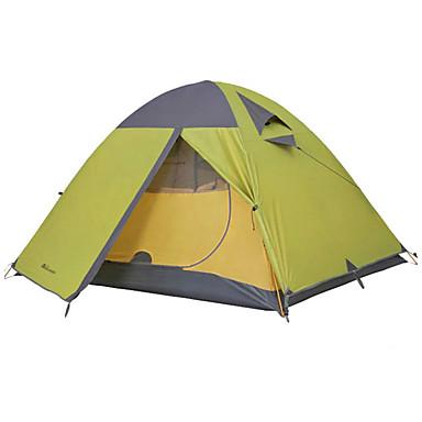 halpa Teltat ja suojat-MOBI GARDEN 1 henkilö Teltta Retkeilyteltat Ulko- Vedenkestävä Kannettava Tuulenkestävä Kaksinkertainen Kupu- teltta 1500-2000 mm varten Vaellus Retkeily Matkailu Polyesteri Oxford 210*100*100 cm