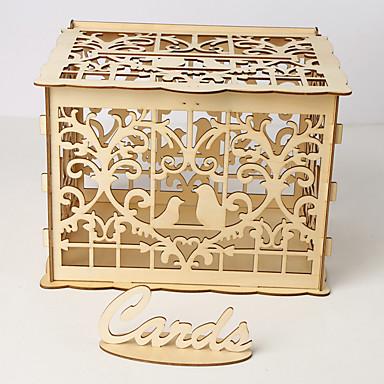 voordelige Feestbenodigdheden-Ornamenten Hout 1 set Bruiloft