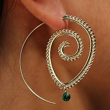 a8b6a03810a1 Mujer Cristal Geométrico Piercing de Oreja Pendients de aro Aretes Clásico  Vintage Elegante Joyas Dorado   Plata Para Fiesta Ceremonia Bar 1 Par
