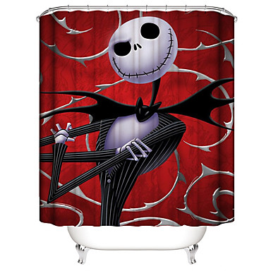 cheap Happy Halloween-Shower Curtains & Hooks Contemporary Plastics / Polyester Waterproof / Cool