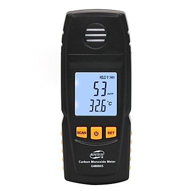 voordelige Test-, meet- & inspectieapparatuur-benetech gas analyzer luchtkwaliteit monitor handheld digitale co-monitor tester koolmonoxide detector gm8805 co gasmonitor
