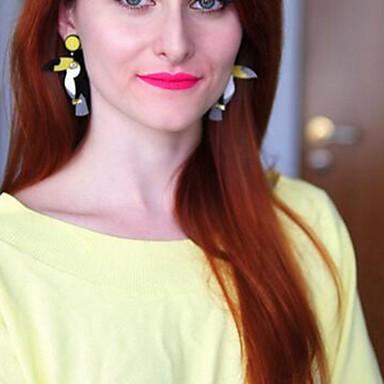 baratos Bijuteria de Mulher-Mulheres Brincos Compridos Pássaro Desenho Brincos Jóias Amarelo Para Diário 1 par