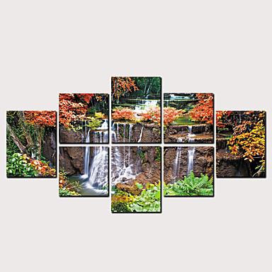 abordables Toiles-Imprimé Impressions sur toile roulées - Paysage A fleurs / Botanique Classique Moderne Art Prints