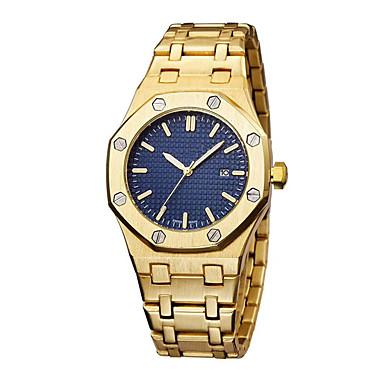 voordelige Regal Horloge-Heren Dress horloge Swiss Kwarts Zwart / Zilver / Goud 50 m Creatief Nieuw Design Vrijetijdshorloge Analoog Luxe Elegant - Grijs Blauw Goud Twee jaar Levensduur Batterij
