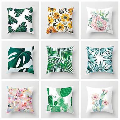 Cheap Home Decor 1 Pcs Cotton Linen Pillow Cover 3D Print Leaf Casual