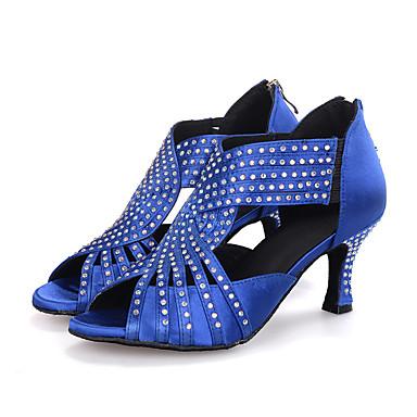 abordables Meilleures Ventes-Femme Chaussures de danse Matière synthétique Chaussures Latines Fantaisie Talon Talon Bobine Personnalisables Noir / Rouge / Bleu / Utilisation / Cuir