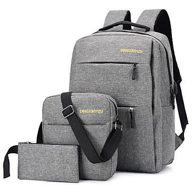 hesapli Çantalar-Unisex Fermuar Çanta Setleri Çanta Setleri Polyester / Sentetik Tek Renk 3 Adet Çanta Seti Siyah / YAKUT / Gri / Sonbahar Kış