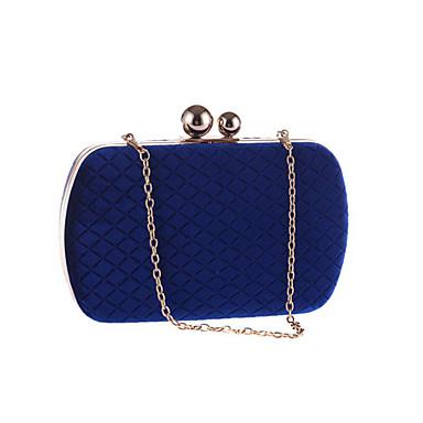621fc7d2a9 Γυναικεία Τσάντες Πολυεστέρας Βραδινή τσάντα Συμπαγές Χρώμα Μαύρο   Σκούρο  μπλε   Βυσσινί