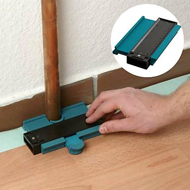 baratos Ferramentas e Equipamentos-5 polegadas contorno perfil calibre telhas laminado borda moldar madeira régua medida medidor de contorno abs duplicador
