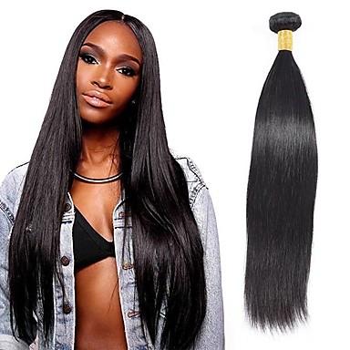 baratos Extensões de Cabelo Natural-6 pacotes Cabelo Brasileiro Liso 100% Remy Hair Weave Bundles Cabelo Humano Ondulado Cabelo Bundle Um Pacote de Solução 8-28 polegada Côr Natural Tramas de cabelo humano Vida Macio Grossa Extensões