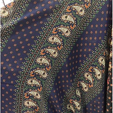 Sifonki Folk-tyyli Pattern 150 cm leveys kangas varten Pusero myyty mukaan 0,45 m
