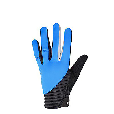 cheap Bike Gloves / Cycling Gloves-SAHOO Bike Gloves / Cycling Gloves Breathable Anti-Slip Sweat-wicking Protective Sports Gloves Winter Fleece Lycra Mountain Bike MTB Green Blue Pink for Adults' Outdoor