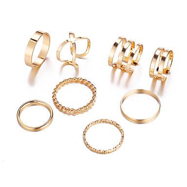 Χαμηλού Κόστους Ring Set-Γυναικεία Δαχτυλίδι / Σετ δαχτυλιδιών / Ανοίξτε τον δακτύλιο 8τεμ Χρυσό / Ασημί Κράμα Κλασσικό / Βίντατζ / Ευρωπαϊκό Καθημερινά / Απόκριες / Αργίες Κοστούμια Κοσμήματα
