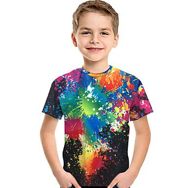 3872e2d09 Kids Toddler Boys' Active Basic Print Rainbow Print Short Sleeve Polyester  Spandex Tee Rainbow