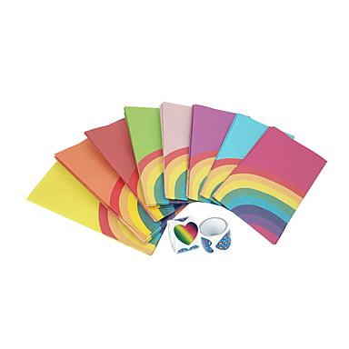 preiswerte Gastgeschenk Boxen & Verpackungen-Quader Kraftpapier Geschenke Halter mit Muster / Druck Haushaltswaren / Geschenkboxen / Geschenk Schachteln - 40pcs