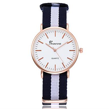 baratos Relógios Senhora-Mulheres Relógios de Quartzo Casual Fashion Branco Azul Vermelho Tecido Chinês Quartzo Branco Vermelho Rosa Novo Design Relógio Casual 1 Pça. Analógico Um ano Ciclo de Vida da Bateria