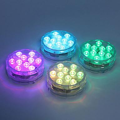 billige Utendørsbelysning-1pc 5 W Undervannslys Vanntett / Fjernstyrt / Mulighet for demping Endring 1.2 V Egnet for vaser og akvarier 10 LED perler