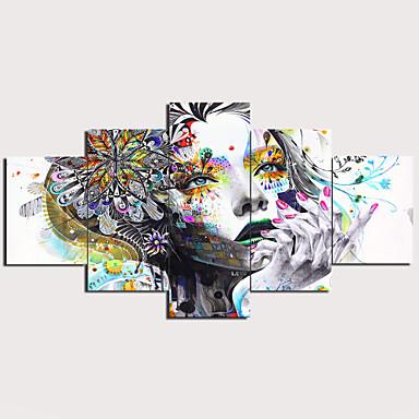 abordables Toiles-Imprimé Impression sur Toile - Abstrait Traditionnel Moderne Cinq Panneaux Art Prints