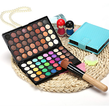 80 Colors Eyeshadow / Eyeshadow Palette Eye / EyeShadow Waterproof / Matte / Mini Style / Portable / Shimmer / Women / Glitter Shine / 2 Tiers Daily Makeup / Halloween Makeup / Party Makeup 1160