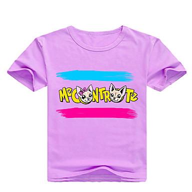 7f20396ce07f Παιδιά   Νήπιο Αγορίστικα Βασικό Στάμπα Στάμπα Κοντομάνικο Βαμβάκι    Spandex Κοντομάνικο Ανθισμένο Ροζ