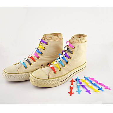 povoljno Vezice za cipele-1 komad Silikon Vezice Uniseks Sva doba Sport & otvorenom / Kauzalni Crvena / Plava / Pink