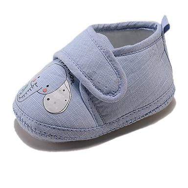 voordelige Babyschoenentjes-Jongens / Meisjes Comfortabel / Eerste schoentjes Linnen Platte schoenen Peuter (9m-4ys) Grijs / Blauw / Roze Lente / Herfst
