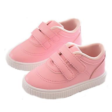 voordelige Babyschoenentjes-Meisjes Comfortabel PU Sneakers Peuter (9m-4ys) / Little Kids (4-7ys) Wit / Zwart / Roze Lente / Herfst / Rubber