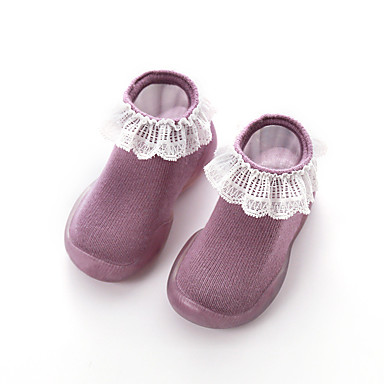 voordelige Babyschoenentjes-Jongens / Meisjes Comfortabel / Eerste schoentjes Tricot Loafers & Slip-Ons Groen / Roze / Licht Roze Lente / Herfst