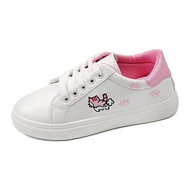 Accurato Per Donna Pu (poliuretano) Primavera Sneakers Piatto Bianco - Nero - Rosa #07335187