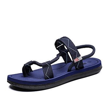 baratos Super Ofertas-Homens Sapatos Confortáveis Tecido elástico Primavera Verão Vintage Sandálias Respirável Preto / Azul / Marron