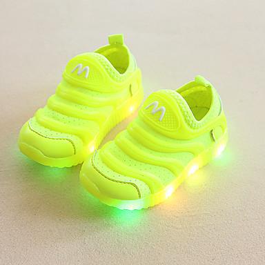 voordelige Babyschoenentjes-Jongens Oplichtende schoenen Elastische stof Sneakers Peuter (9m-4ys) / Little Kids (4-7ys) Hardlopen / Wandelen Groen / Blauw / Roze Zomer / Rubber