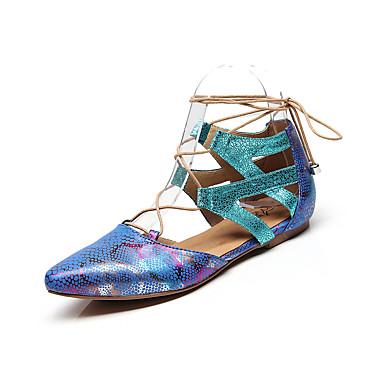baratos Shall We® Sapatos de Dança-Mulheres Sapatos de Dança Couro Ecológico Sapatos de Dança Moderna MiniSpot Sapatilha Sem Salto Personalizável Preto / Nú / Azul / Ensaio / Prática